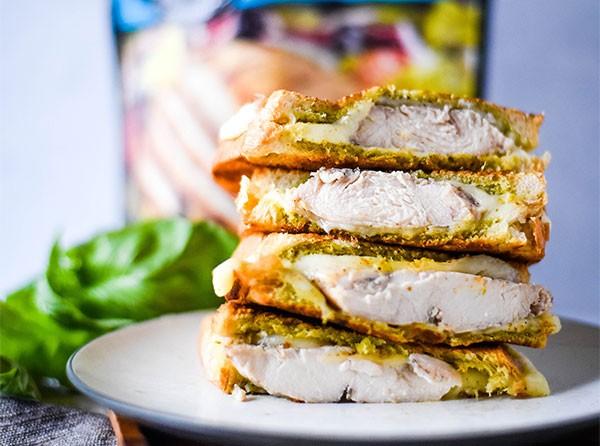 Chicken Pesto Grilled Cheese Sandwich