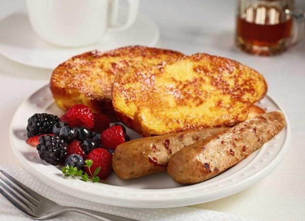 Maple Cinnamon Chicken Sausage & French Toast