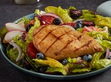 Flame Grilled Chicken Breast Fillet with Fresh Fruit & Citrus Vinaigrette